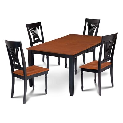Charlestown 5 Piece Black and Cherry Dining Set