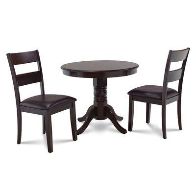 Cedarville 3 Piece Cappuccino Dining Set