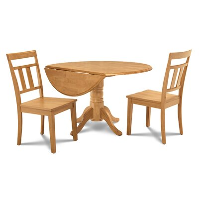 Chesterton Transitional 3 Piece Wood Dining Set Finish: Oak