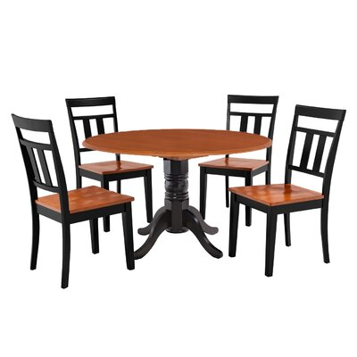 Chesterton 5 Piece Wood Dining Set Finish: Black/Cherry