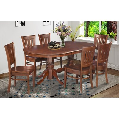 Inwood Oval-Shaped Extendable Dining Table Finish: Espresso