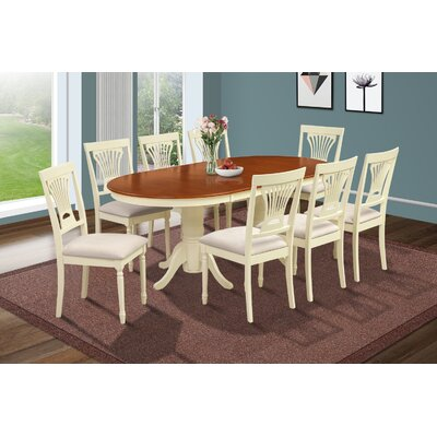 Inwood 9 Piece Carved Dining Set Finish: Buttermilk/Cherry