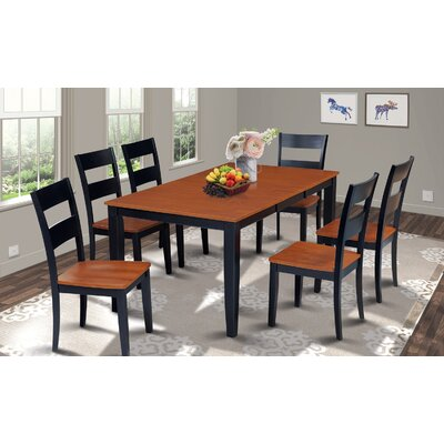 Charlestown Rectangular Extendable Dining Table Finish: Black