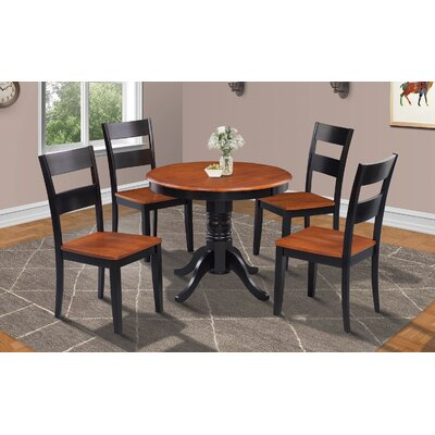 Cedarville Round Dining Table Finish: Black/Cherry