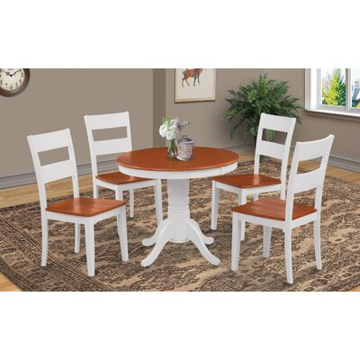 Cedarville Round Dining Table Finish: White/Cherry