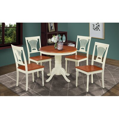 Cedarville Round Dining Table Finish: Buttermilk/Cherry