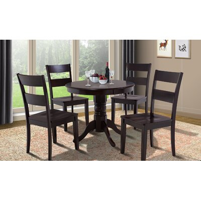 Cedarville Round Dining Table Finish: Cappuccino