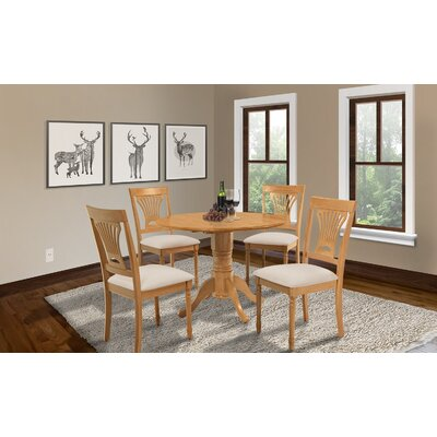 Chesterton Round Drop Leaf Dining Table Finish: Oak