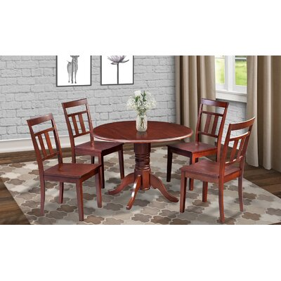 Chesterton Round Drop Leaf Dining Table Finish: Mahogany