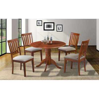 Chesterton Round Drop Leaf Dining Table Finish: Saddle Brown