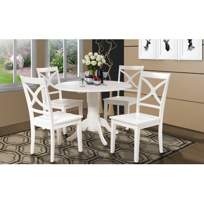 Chesterton Round Drop Leaf Dining Table Finish: White