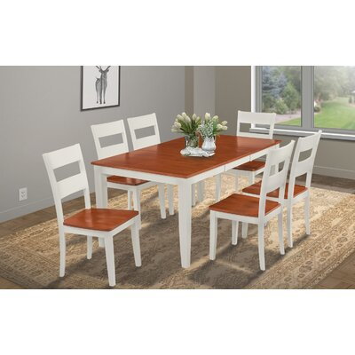 Charlestown Rectangular Extendable Dining Table Finish: White