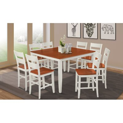 Charlestown Square Counter Height Extendable Dining Table Finish: White