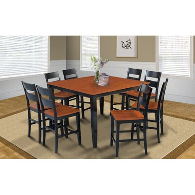 Charlestown Square Counter Height Extendable Dining Table Finish: Black