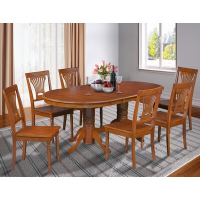 Inwood 7 Piece Carved Dining Set Finish: Saddle Brown