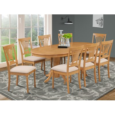 Inwood 9 Piece Carved Dining Set Finish: Oak