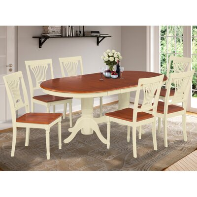 Inwood 7 Piece Carved Dining Set Finish: Buttermilk/Cherry