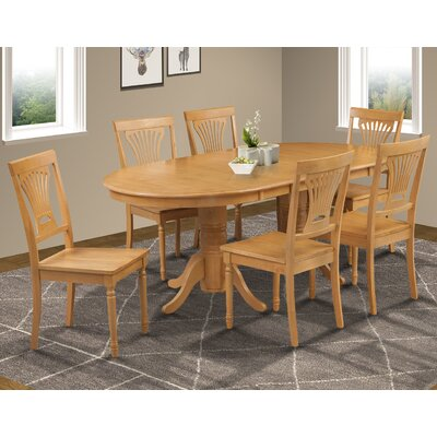 Inwood 7 Piece Carved Dining Set Finish: Oak