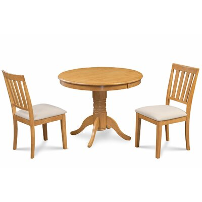 Cedarville 3 Piece Carved Dining Set