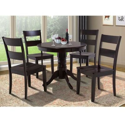 Cedarville 5 Piece Carved Wood Dining Set Finish: Cappuccino