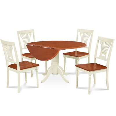 Newry Round Dining Table Base Color/Top Color: Buttermilk/Cherry