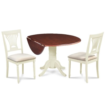 Chesterton 3 Piece Dining Set Finish: Mahogany