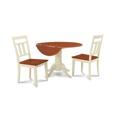 Chesterton Transitional 3 Piece Wood Dining Set Finish: Buttermilk Cherry/Off-White