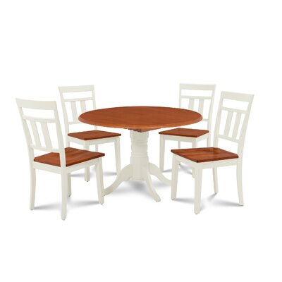 Chesterton 5 Piece Wood Dining Set Finish: Buttermilk Cherry/Off-White