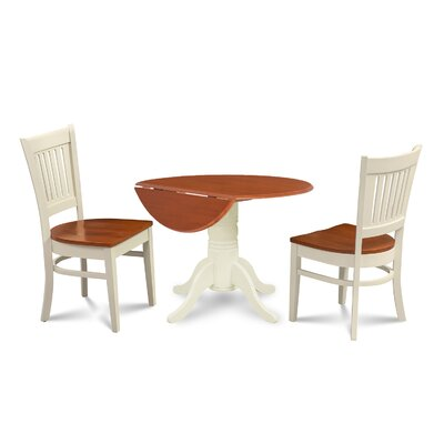 Thornhill Round Carved 3 Piece Dining Set