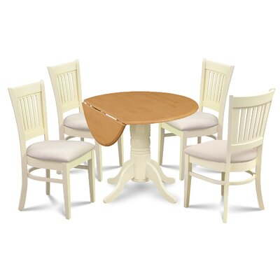 Keyshawn Transitional Buttermilk 5 Piece Dining Set