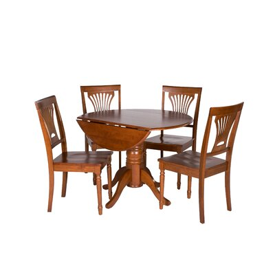 Chesterton 5 Piece Dining Set Finish: Saddle Brown