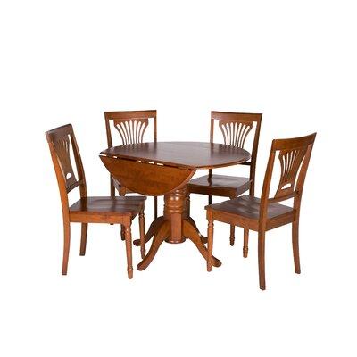 Chesterton 5 Piece Dining Set Finish Saddle Brown