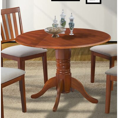 Chesterton Drop Leaf Dining Table Color: Saddle Brown/Saddle Brown