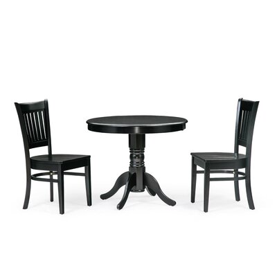 Cedarville 3 Piece Dining Set Color: Black