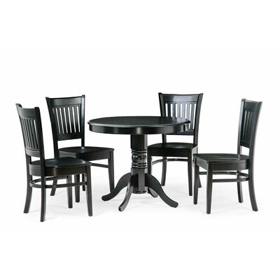 Cedarville 5 Piece Dining Set Color: Black