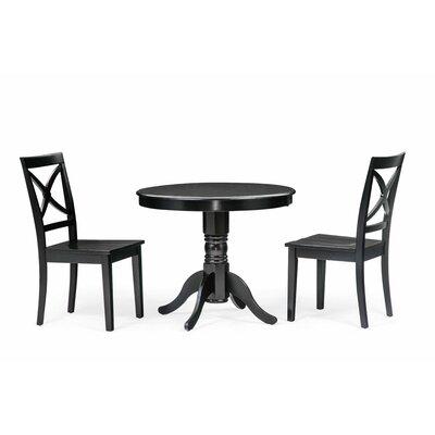 Cedarville 3 Piece Dining Set Color: Black
