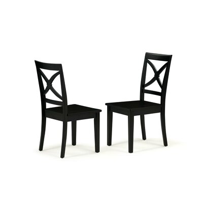 Chesterton Solid Wood Dining Chair Color: Black