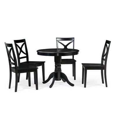 Cedarville 5 Piece Dining Set Color: Black