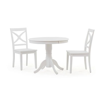 Cedarville 3 Piece Dining Set Color: White