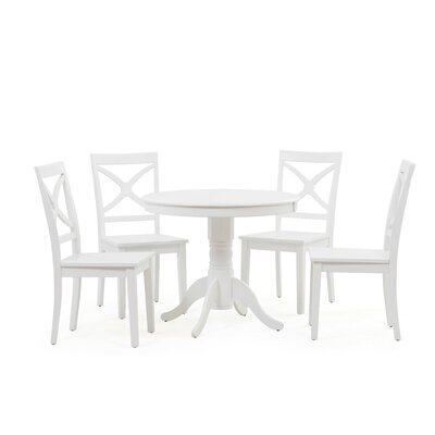 Cedarville 5 Piece Dining Set Color: White