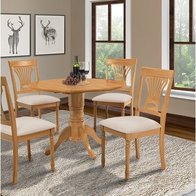 Chesterton Drop Leaf Dining Table Color: Buttermilk/Oak, Color: Oak/Oak