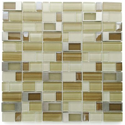 Clasp Alternative Glass Mosaic Tile in Brown/Bare