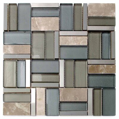 Iron Glass/Stone/Metal Mosaic Tile in Green