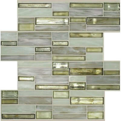Sparkler Saturn Glass Mosaic Tile in Bare/Yellow
