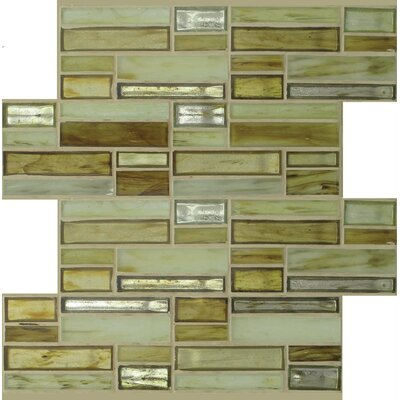 Sparkler Jupiter Glass Mosaic Tile in Brown/Yellow