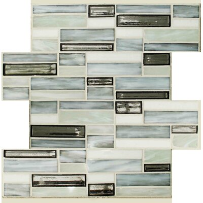 Sparkler Mercury Glass Mosaic Tile in Gray/Blue