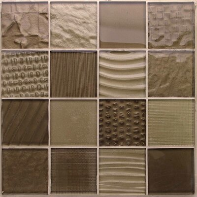 Patchwork Sahara 12x 12 Glass Mosaic Tile in Brown