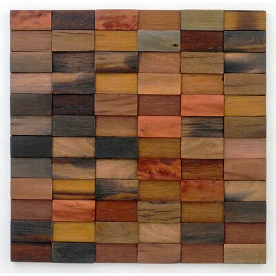 Stackwood Levels Glass Mosaic Tile in Orange/Brown