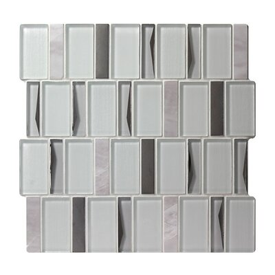 Twilight Sirius Random Sized Glass Mosaic Tile in White