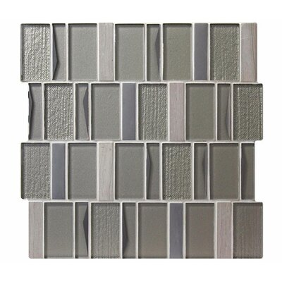 Twilight Polaris Random Sized Glass Mosaic Tile in Gray
